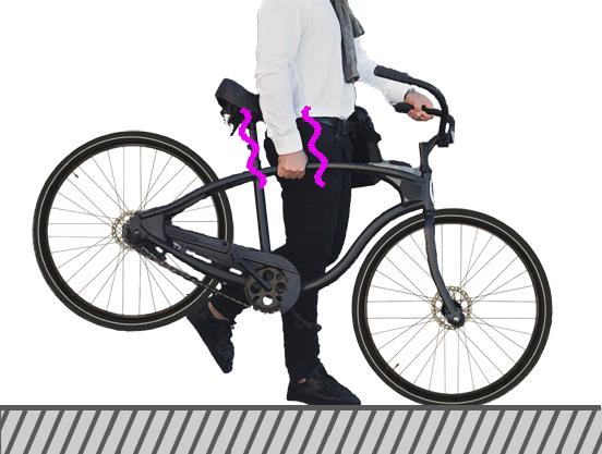 鍵のかかった自転車の運び方・・の画像